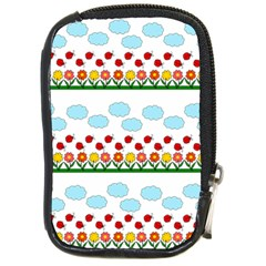 Ladybugs and flowers Compact Camera Cases