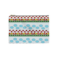 Ladybugs and flowers Cosmetic Bag (Medium)