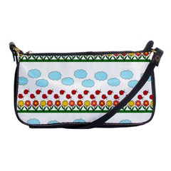 Ladybugs and flowers Shoulder Clutch Bags
