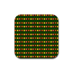 Flowers Rubber Square Coaster (4 pack)