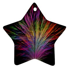 Fractal In Many Different Colours Ornament (star)