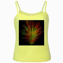 Fractal In Many Different Colours Yellow Spaghetti Tank