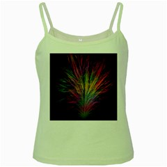 Fractal In Many Different Colours Green Spaghetti Tank