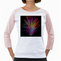 Fractal In Many Different Colours Girly Raglans