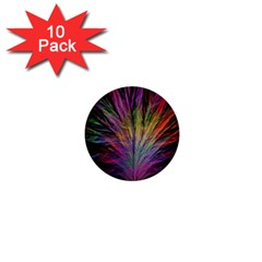 Fractal In Many Different Colours 1  Mini Buttons (10 pack)