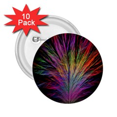 Fractal In Many Different Colours 2 25  Buttons (10 Pack)