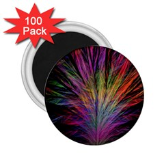 Fractal In Many Different Colours 2 25  Magnets (100 Pack)