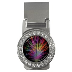Fractal In Many Different Colours Money Clips (cz)