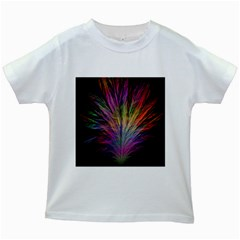 Fractal In Many Different Colours Kids White T-Shirts