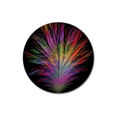 Fractal In Many Different Colours Magnet 3  (Round)