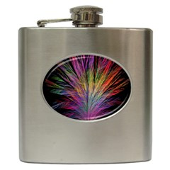 Fractal In Many Different Colours Hip Flask (6 Oz)