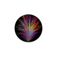 Fractal In Many Different Colours Golf Ball Marker (4 pack)
