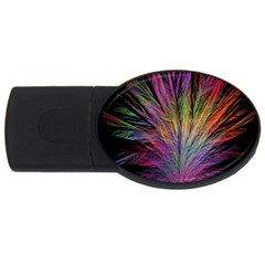 Fractal In Many Different Colours USB Flash Drive Oval (1 GB)
