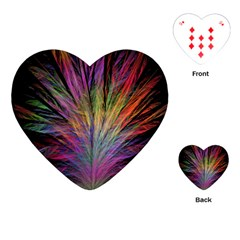 Fractal In Many Different Colours Playing Cards (Heart)