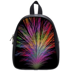 Fractal In Many Different Colours School Bags (small)