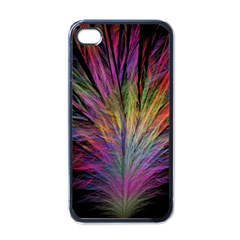 Fractal In Many Different Colours Apple Iphone 4 Case (black)