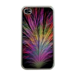 Fractal In Many Different Colours Apple iPhone 4 Case (Clear)