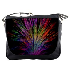 Fractal In Many Different Colours Messenger Bags