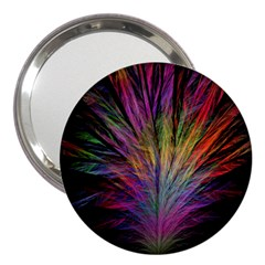 Fractal In Many Different Colours 3  Handbag Mirrors