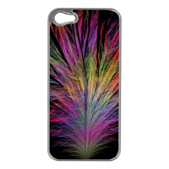 Fractal In Many Different Colours Apple iPhone 5 Case (Silver)