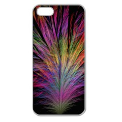 Fractal In Many Different Colours Apple Seamless Iphone 5 Case (clear)