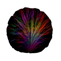Fractal In Many Different Colours Standard 15  Premium Round Cushions