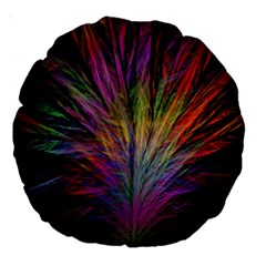Fractal In Many Different Colours Large 18  Premium Round Cushions