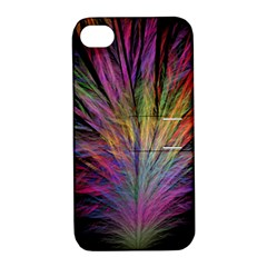 Fractal In Many Different Colours Apple iPhone 4/4S Hardshell Case with Stand