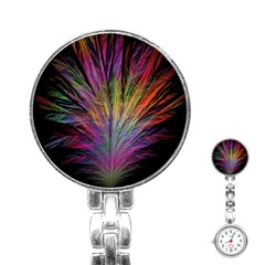 Fractal In Many Different Colours Stainless Steel Nurses Watch