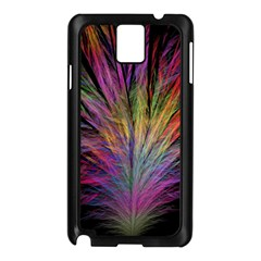 Fractal In Many Different Colours Samsung Galaxy Note 3 N9005 Case (Black)