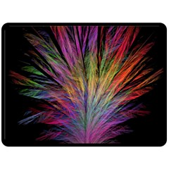 Fractal In Many Different Colours Double Sided Fleece Blanket (Large)