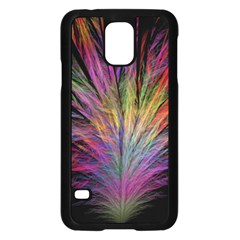 Fractal In Many Different Colours Samsung Galaxy S5 Case (Black)
