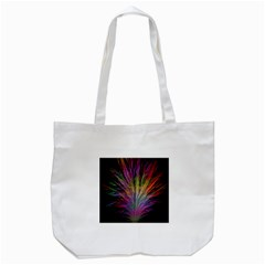 Fractal In Many Different Colours Tote Bag (White)