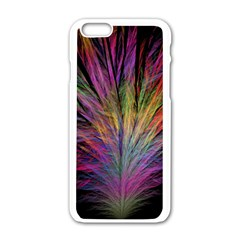 Fractal In Many Different Colours Apple Iphone 6/6s White Enamel Case