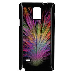 Fractal In Many Different Colours Samsung Galaxy Note 4 Case (black)