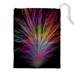 Fractal In Many Different Colours Drawstring Pouches (XXL)