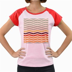 Abstract Vintage Lines Women s Cap Sleeve T Shirt