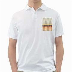 Abstract Vintage Lines Golf Shirts