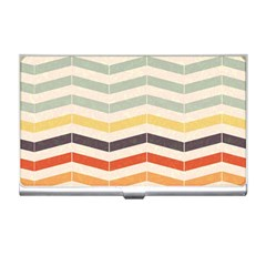 Abstract Vintage Lines Business Card Holders