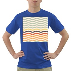 Abstract Vintage Lines Dark T Shirt