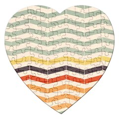 Abstract Vintage Lines Jigsaw Puzzle (Heart)
