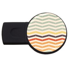 Abstract Vintage Lines USB Flash Drive Round (4 GB)