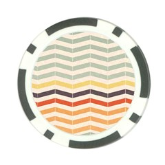 Abstract Vintage Lines Poker Chip Card Guard