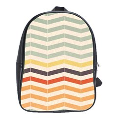 Abstract Vintage Lines School Bags(large)