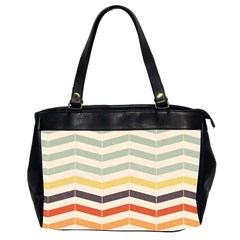 Abstract Vintage Lines Office Handbags (2 Sides)