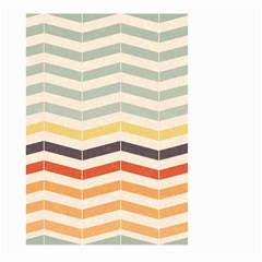 Abstract Vintage Lines Large Garden Flag (Two Sides)