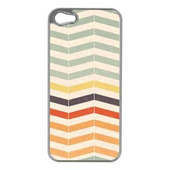 Abstract Vintage Lines Apple iPhone 5 Case (Silver)