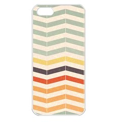Abstract Vintage Lines Apple iPhone 5 Seamless Case (White)