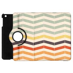 Abstract Vintage Lines Apple iPad Mini Flip 360 Case