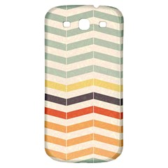 Abstract Vintage Lines Samsung Galaxy S3 S III Classic Hardshell Back Case